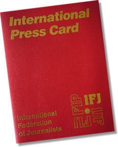 کارت بینالمللی خبرنگاری فدراسیون بینالمللی روزنامهنگاران
